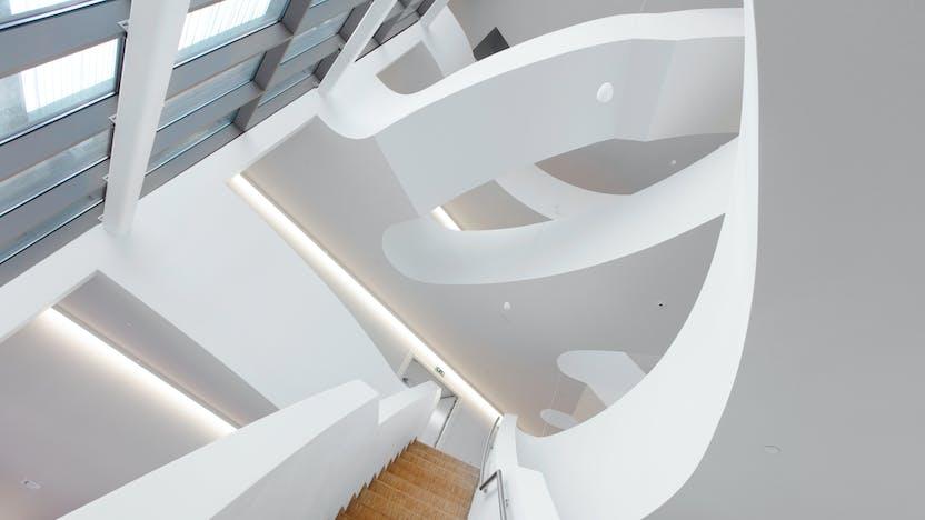 BE, Creagora Namur, Namur, Atelier 4D & Atelier d'Architecture Ad'A, Office, Reception, Rockfon Mono Acoustic, Seamless, white