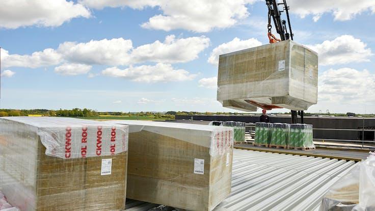 Reference case, Taulov Dry Port, Hardrock, building site, FRI, roof, construction