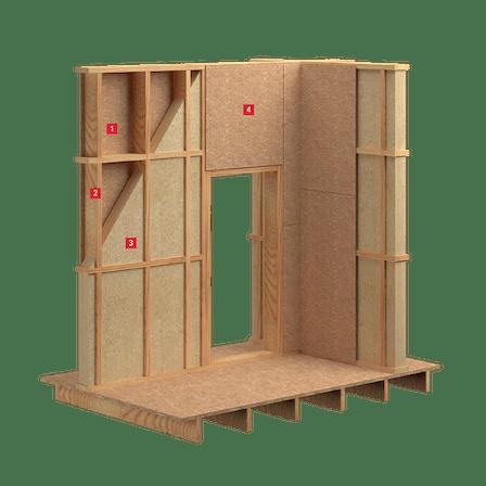 Timber Stud Wall, insulation