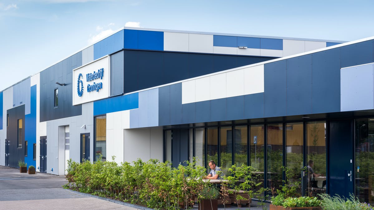 The Groninger Water Company in Hoogezand with Rockpanel Colours facade cladding