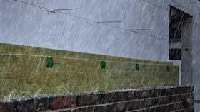 facade, outer wall, wall, rain, storm, wheater, cavity wall insulation, wheatering, exposure, kerndämmung, bewitterung, germany