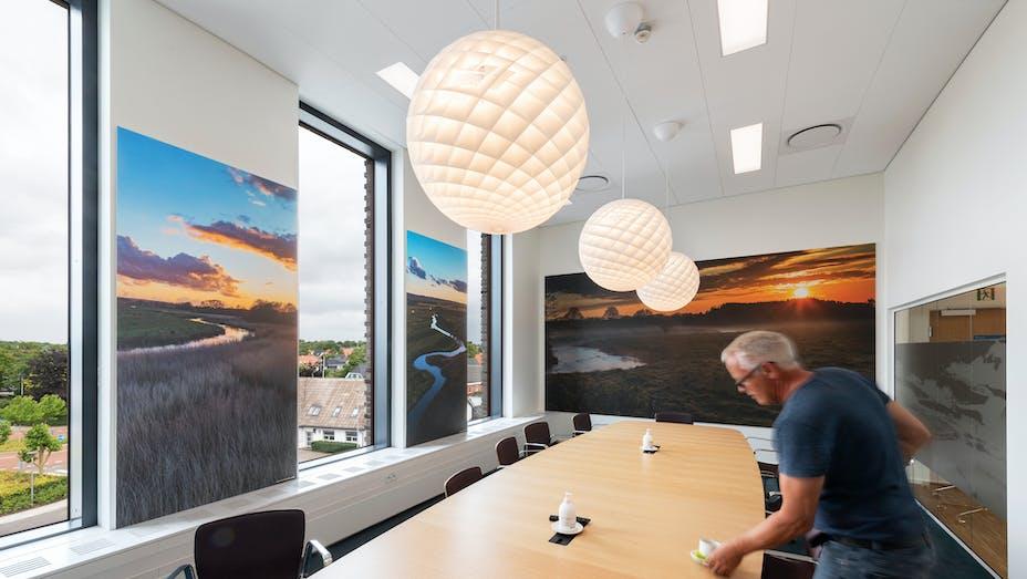DK, Vejen Rådhus, Vejen, Transform-Pluskontoret-Rambøll, Office, Meeting Room, Rockfon Blanka, X-edge, 1200x600, white