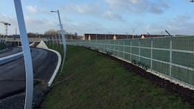 fences, street, bridge, rail, lapinus