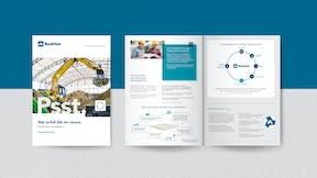 SE, Rockfon Recycling, Rockcycle, Brochure, Sustainability, Mock-up