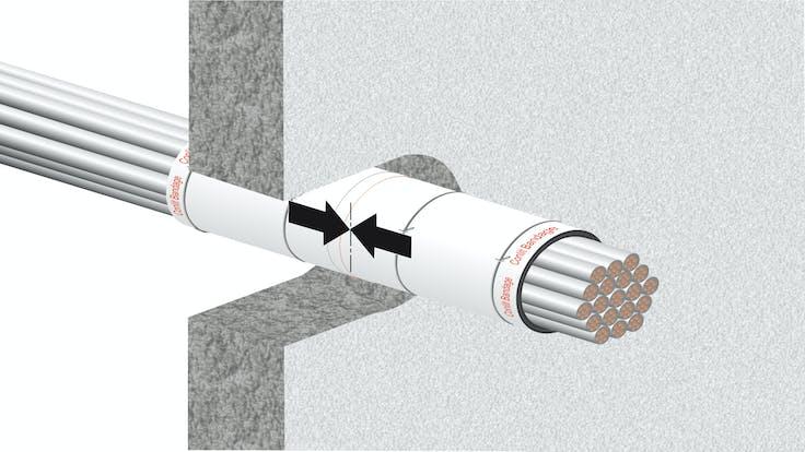 illustration, hvac, conlit bandage, step 4/5,germany