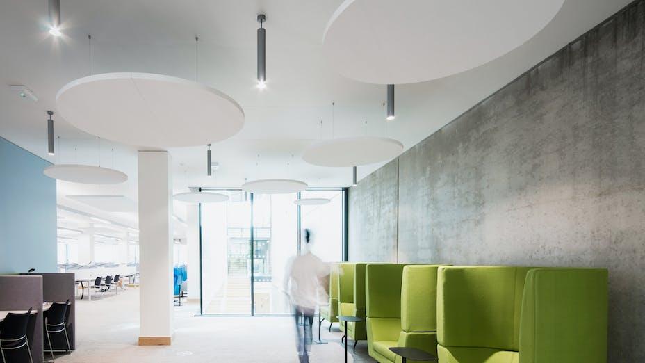 UK, Ireland, Dublin, Glucksman Library , University of Limerick, RKD Architects, Rockfon Eclipse, Circular, White
