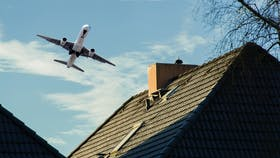 plane, aircraft noise, plane above house, germany