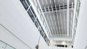 NL, Case study DaCapo College, Sittard, Povse en Timmermans Architecten en Ingeneurs, Education, Rockfon Blanka Activity, B-edge, 1200x600, White, Rockfon System Adhesive B