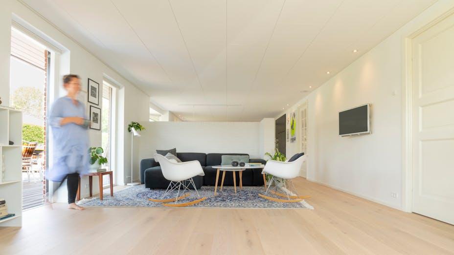 DK, Private Home Fløng, Hedehusene, Leisure, Rockfon Blanka, X-edge, 1800x600, White, X Profile, Private Home