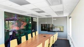 NO, Otto Nielsens vei 12, Arcasa arkitekter, Office, Meeting Room, Open plan office, Rockfon Blanka dB42, A edge, 600x600, white, Chicago Metallic T24 Click 2890