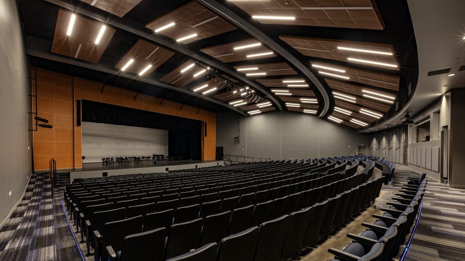 NA, Noble High School, TAP Architecture, Chicago Metallic 1200, Planostile Lay-In and Infinity in Metalwood Cherry