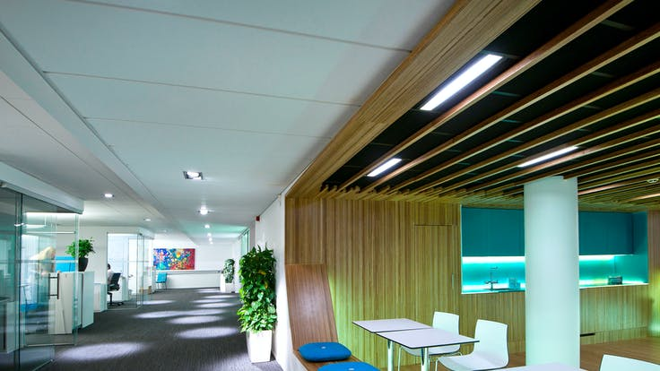 Parafon ceiling in colour white installed at Business School