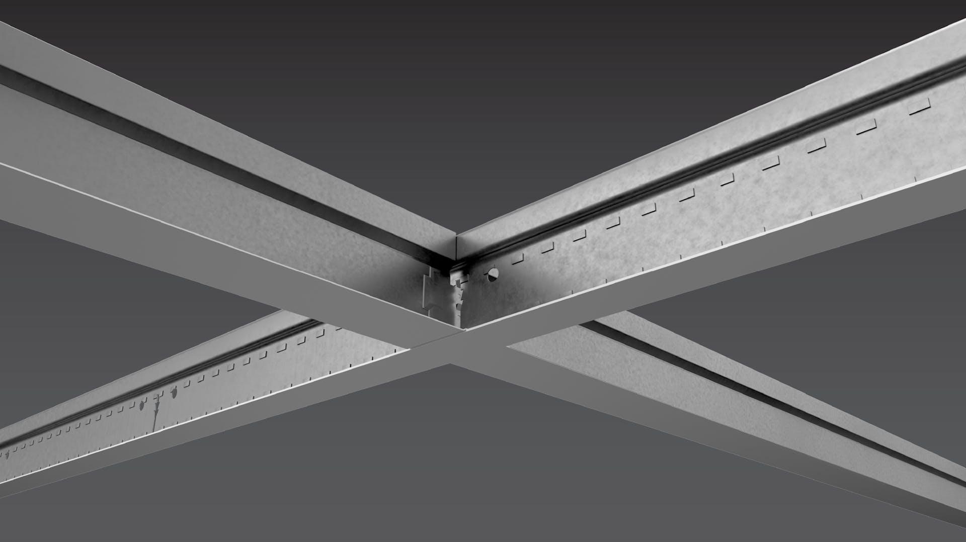 NA, Suspension System, Grid, Chicago Metallic, 200 Snap Grid