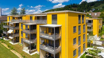 Multi-family housing in Winterthur, Switzerland with Rockpanel Colours facade cladding
