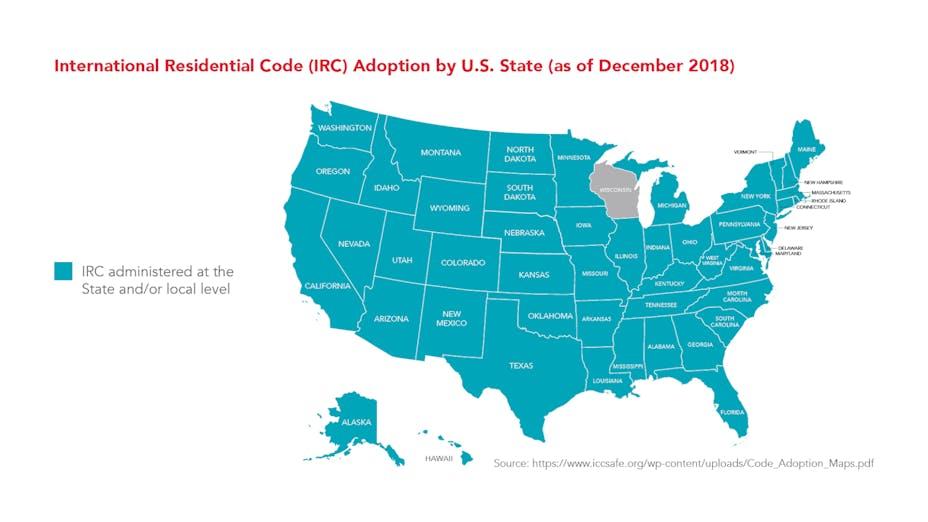 ROCKWOOL-IRC-International Residential Code Adoption by U.S. state as of December 2018