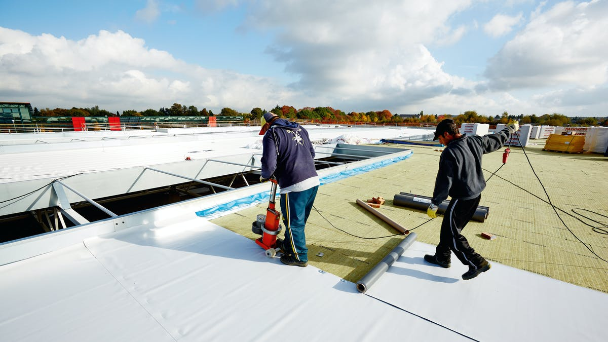 product, flatroof, flat roof, hardrock, installation, installer, reference, rockwool forum, flachdach, germany