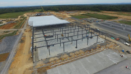 RAN5 construction progress as of September 8, 2019 at our new manufacturing production facility in Ranson, Jefferson County, West Virginia (WV).