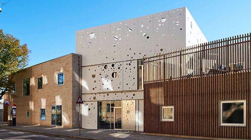Reference case, Denmark, Copenhagen, REDAir FLEX, REDAit LINK, children city, facade