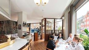 Restaurant Møntergade in Copenhagen with Rockfon Mono Acoustic ceiling