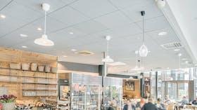 Maschmanns Market, Rockfon Color-all Concrete X-edge, Hygiene, leisure, shopping