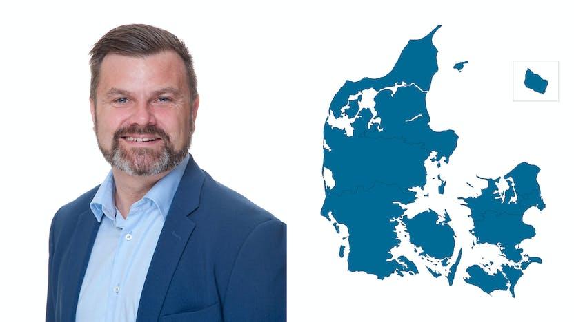 contact person, sales representative, profile and map, Erik Lind, DK