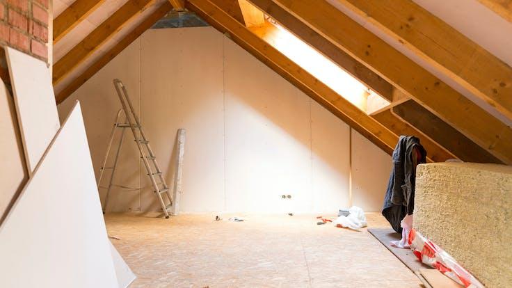 attic insulation, rockwool