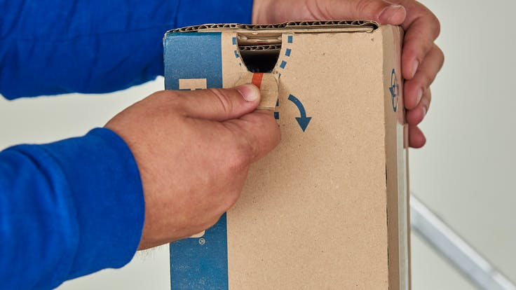Rockfon Grid Box with tear away open