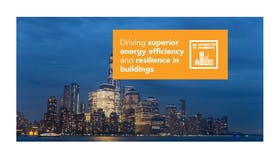 PNG: Driving superior energy efficiency and resilience in buildings SDG11 sustainable development goals blog post hero image. (Version 2)