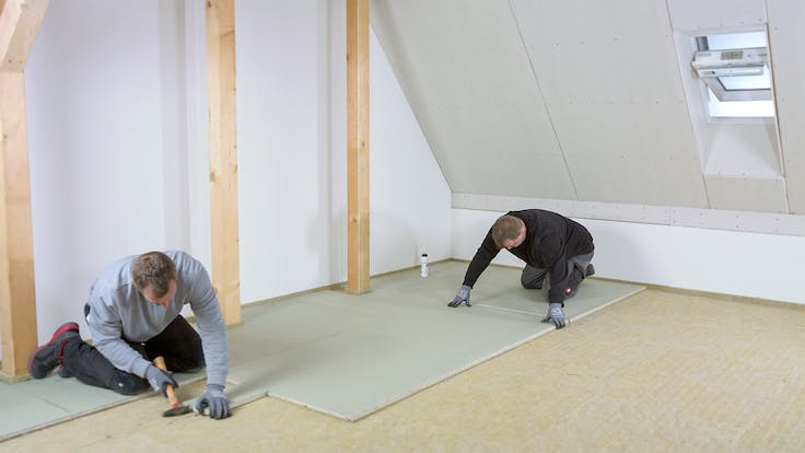 floor, floor insulation, impact sound, impact sound insulation, trittschall, trittschalldämmung, floorrock, floorrock ap, floorrock hp, randstreifen rst, installation, installation steps, video trittschall, 300 dpi, Steinwollefarbe retuschiert, Germany (file needs to be uploaded once more as there is an issue with Epi)