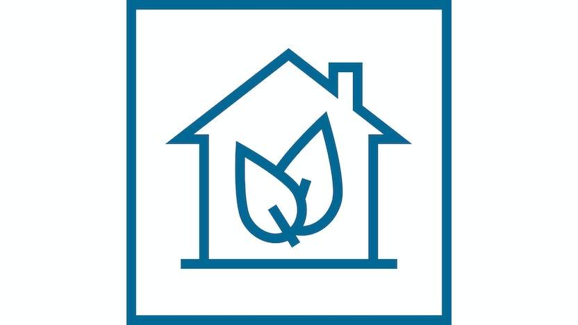 icon, rockfon, sustainability, indoor emissions
