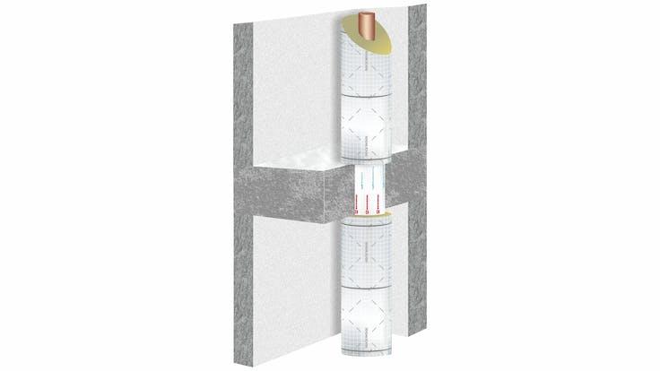 illustration, construction, ceiling, pipe, conlit 150 u, hvac, pm helfer kompakt, germany