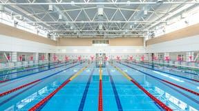 Atlantic Pools, St. Petersburg, Russia, Eugene G. Ostanin, OOO Techglavstroy Contractors, ROCKFON Color-all, ROCKFON Boxer wall absorber