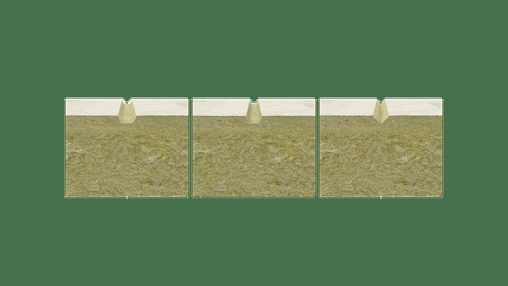 coverrock deko, product, rendering, facade, etics, wdvs, wärmedämmverbundsystem, bossendämmplatte, bossennut, germany, platte profil, übersicht 3 varianten, png