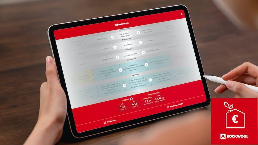 einspar-ratgeber, tool, iPad, with icon germany