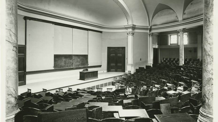Article photo, Room Acoustics, Fogg Lecture hall, Sabine