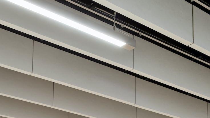 Parafon Royal Baffle ceiling in bank office in Helsinki, Finland