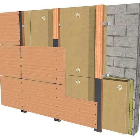 external wall, ventilated facade, façade ventilée