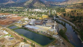 Drone footage of the Grand Forks, British Columbia GRF production and manufacturing facility.