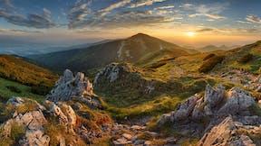 nature, mountains, sunset