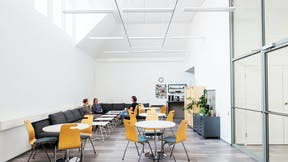 FI, Chydenia, Helsinki, Innovarch Oy, Education, Rockfon Blanka, E-edge, 600x1200, white, canteen