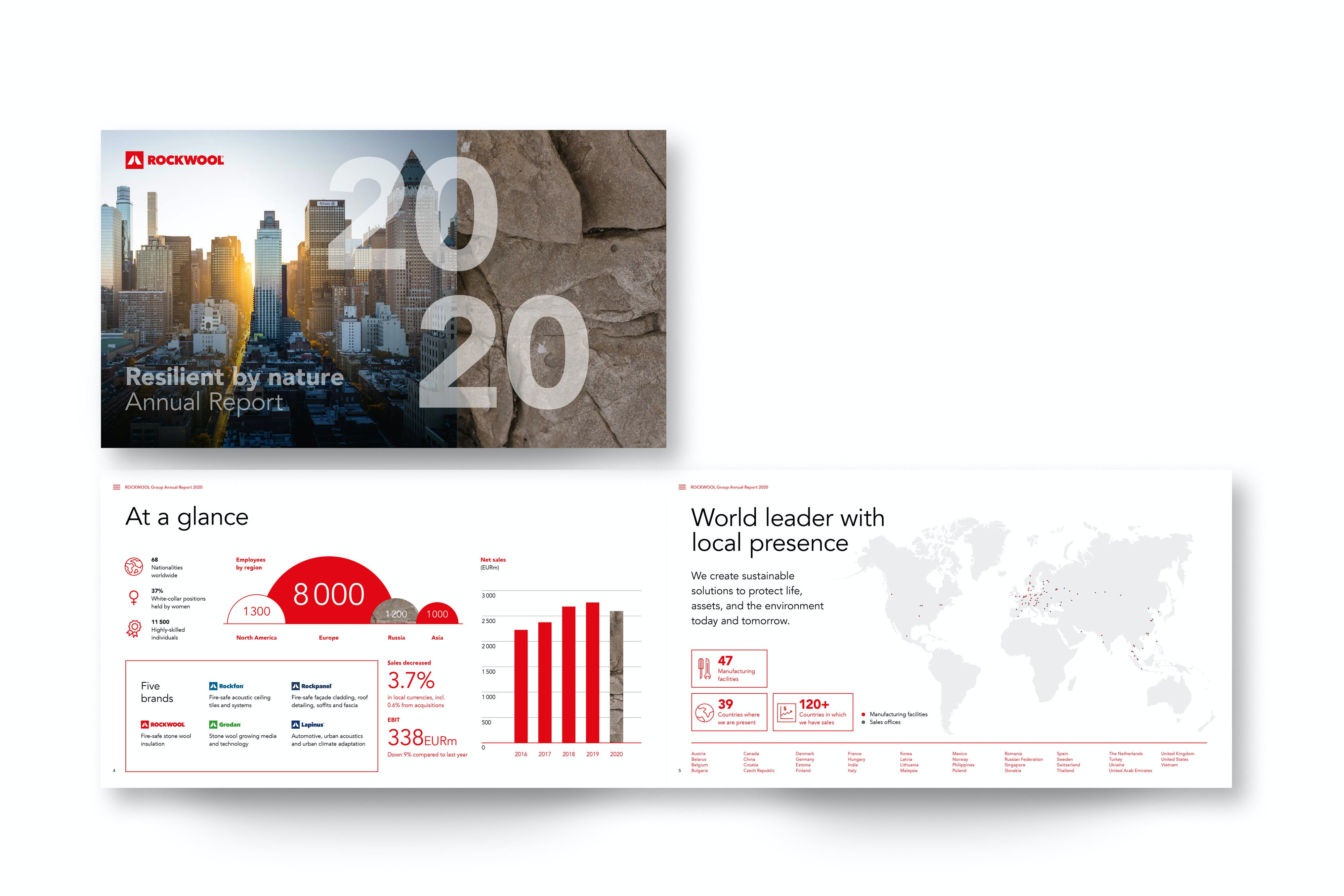 AR 2020, Annual Report 2020, cover, at a glance