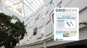 campaign illustration, grid news 3, grids, suspension grids, UK, newsletter cover on image featuring Eclipse Wall.