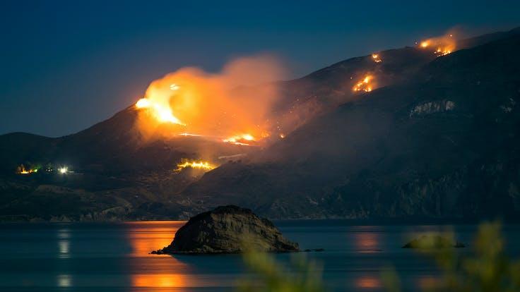 Fire, Forrest, Nature, Hills