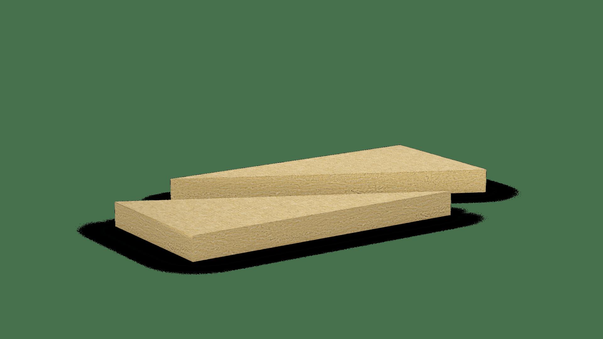 Mono density, medium density stone wool slab, triangular shape. Products: Dammkeil 035, Deltarock