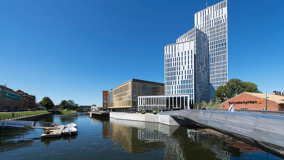 Rockfon Malmoe, building, water, city, boats
