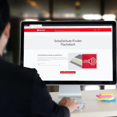 acoustics flatroof, schallschutz-finder flachdach, online tool, press, presse, germany