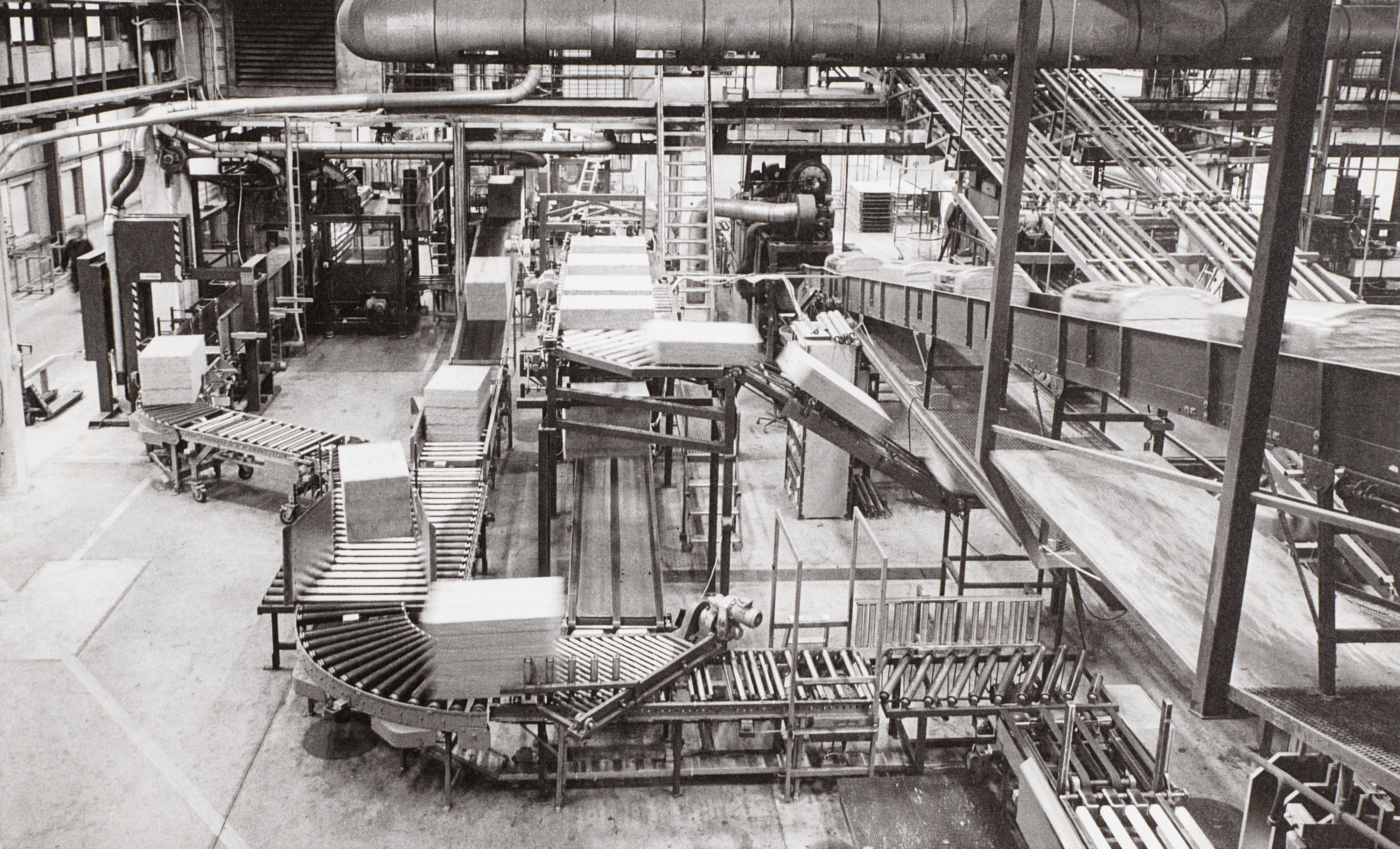 The packing areas of the factory in Hedehusene late 1970.