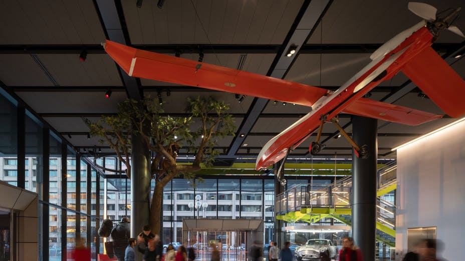 NA, Color-All CDX (X-Edge) 2x8 in Anthracite, Lobby, Leisure, The Spy Museum™, Rogers Stirk Harbour + Partners