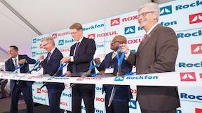 Rockfon, ROXUL, ribbon cutting, management
