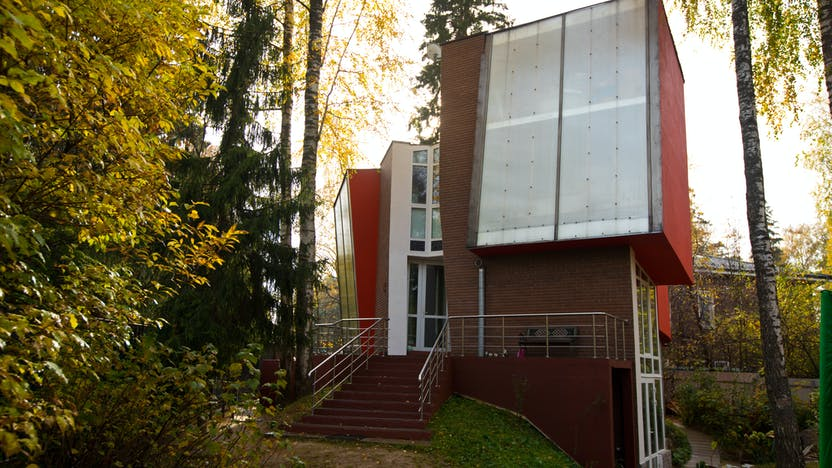 Green balance, facade, house